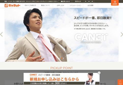 北海道キャネットのHP画像